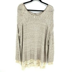 Free People Oversized Open Weave Tunic Sweater